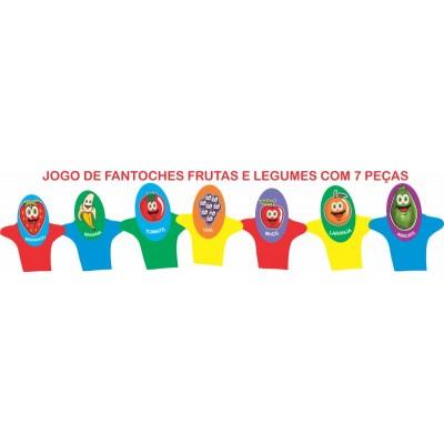 Fantoches de Frutas e Legumes 7 Peças